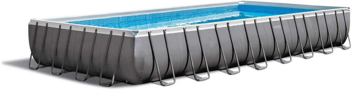 Intex Piscina Rectangular Ultra Frame, I.1, Bomba a Arena Combo ...