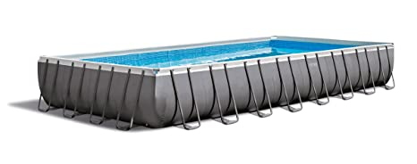 Intex Piscina Rectangular Ultra Frame, I.1, Bomba a Arena Combo, Escalera