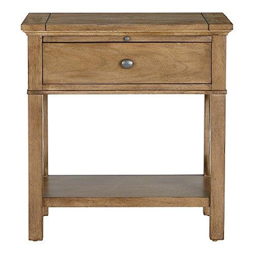 Ethan Allen Alec Night Table | Single Drawer Bedside Table, Umber