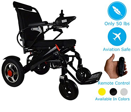 - Lightweight Electric Power Wheelchair Mobility Scooter, Aviation Travel Safe Motorized Electric Wheelchair Mobility Aid (Black)