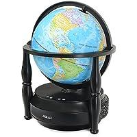 Akai GLU703-BT Bluetooth Speaker with Rotating Globe
