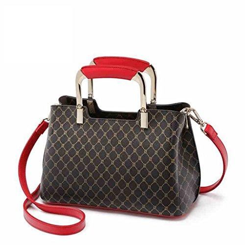 Bolso del bolso de la señora Bolsas Bolso del mensajero del hombro de la moda de la impresión de Lingge (Color : A) A