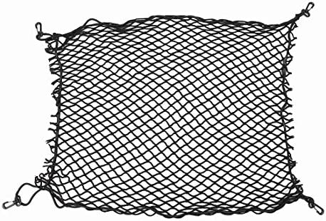 YOCTM Double-Layer High Elastic Car Cargo Net for Jeep Wrangler JL JK 2018 2007-2017 SUV Trunk Net Storage Organizer with 4 Hard Hook for Jeep JL Wrangler Accessories
