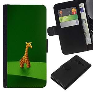 Leather Etui en cuir || Samsung Galaxy A3 || Animal carácter de la jirafa Estatuilla Arte Dibujo de la historieta @XPTECH