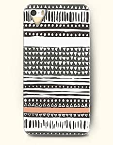 OOFIT Aztec Indian Chevron Zigzag Pattern Hard Case for Apple iPhone 4 4S ( Black Aztec Tribal Ethic Pattern )