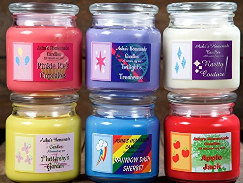 Rainbow Over Sugar Cane - My Little Pony Soy Candles - Set of 3 - Apple Jack/Pinkie Pie/Twilight Sparkle/Rarity/Rainbow Dash/Fluttershy