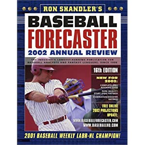 Baseball Forecaster 2002 Annual Review Ron Shandler