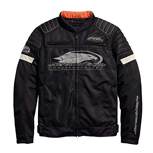 (Official Harley-Davidson Men's Screamin' Eagle Mesh Riding Jacket, Black (XX-Large))