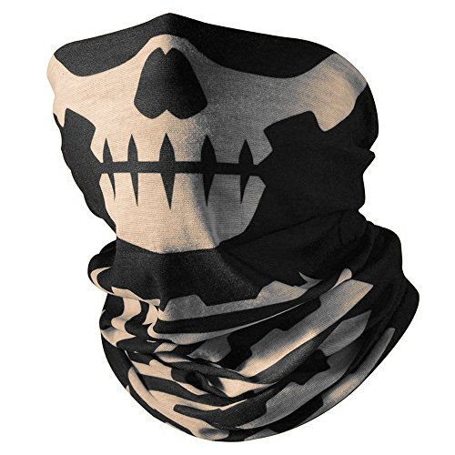 Super Things Skull Half Mask, Seamless Skull face Tube mask (1 mask) -