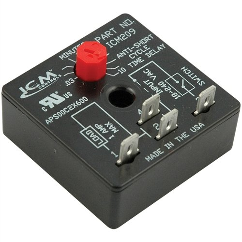 - ICM Controls ICM209 Delay On Break Timer, 4 Terminal with 10 Minutes Adjustable Delay