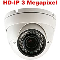 GW Security 3 Megapixel 2048 x 1536P HD IP PoE 2.8-12mm Varifocal Zoom Onvif Network Dome Security Camera