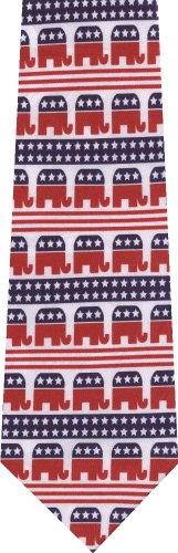 Republican Elephant Flag New Novelty Necktie Tie
