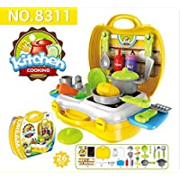 H2solution Kitchen Cooking Set Fruit, Vegetable Playset for Kids Early Age Development Educational Pretend Play Food Assortment Set