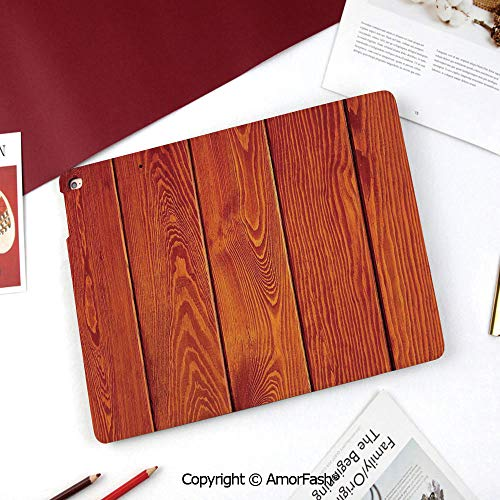 Burnt Orange Printed Cover for Samsung Galaxy Tab A 8 Inch 2015,T350/T355C/P350/P355C Case,Wood Texture with Natural Patterns Oak Timber Tree Floor Decorative Design Home Decorative