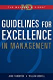 Guidelines for Excellence in Management 9780324271492