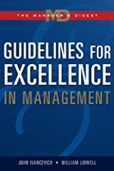 Guidelines for Excellence in Management: The Manager's Digest Hardcover