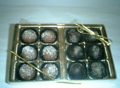 - Champagne and Rum Chocolate Flavored Truffles Gift Box (12 Pcs)