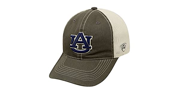 the latest c87fd 7b469 Amazon.com   Top of the World Auburn Tigers Tow Gray Two Tone Putty Mesh  Flexfit Slouch Hat Cap   Sports   Outdoors