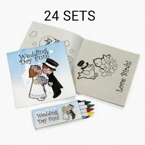 12 pack of Individually Packaged Children's Wedding Activity Sets (2 PACK)