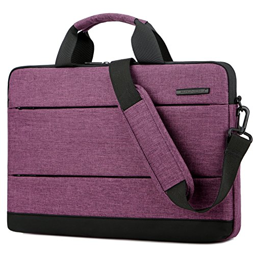 BRINCH 15.6 Inch Laptop Shoulder Bag,Classic Lightweight Slim Portable Laptop Messenger Sleeve Case for Work/Travel,Fits 15-15.6 Inches Laptop/Notebook/MacBook/Ultrabook Computer,Purple (Cases Laptop Travel)