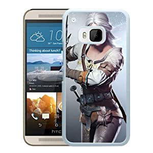 M9 case,The Witcher Wild Hunt Cd Projekt Red The Witcher Sword Girl Look Cris Scar Zirael White HTC ONE M9 cover
