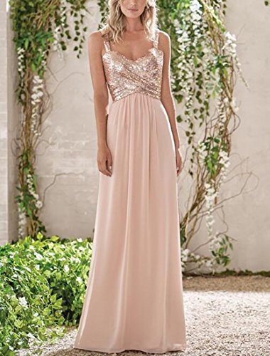 Bridesmaid Rose Gold Lilyla A Pink Line Dresses Short Blush Long Prom Women's Sequined Dress Sweetheart Tn5AY