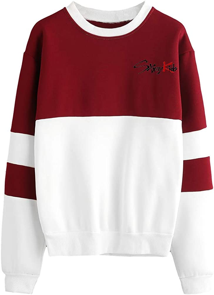 Omnnnelpo Stray Kids Pullover Leisure Printed Sweatshirt Loose Comfortable Pullover Spring Long Sleeve Tops Unisex