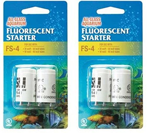 2 Packages of Fluorescent Starters FS-22 For All-Glass Aquarium Products - 4 Total (2 per (Fluorescent Strip Light All Glass)