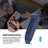 fosa Smart Language Translator Device, Portable Bluetooth Multi-Language Translation, 16 Languages Wireless Translator Headset for Learning Travelling Shopping Business Meeting (Blue)