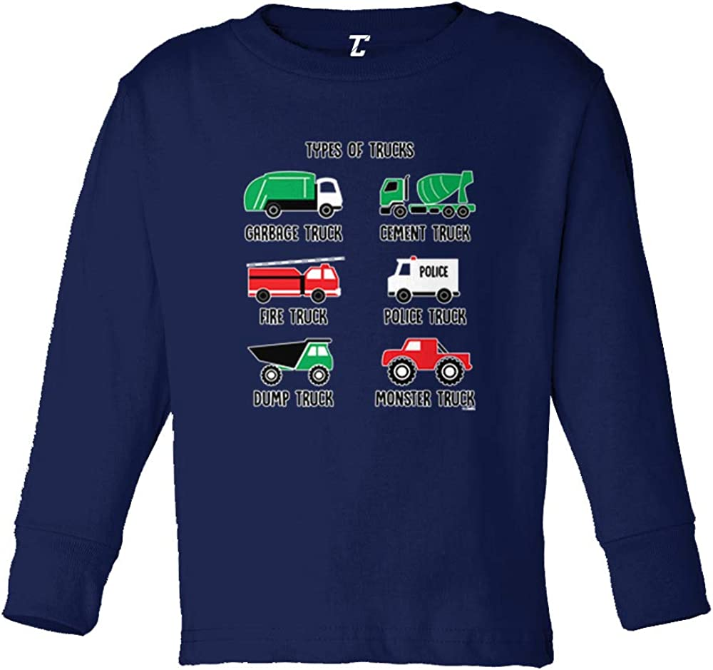 Types of Trucks - Garbage Monster Fire Infant/Toddler Cotton Jersey T-Shirt