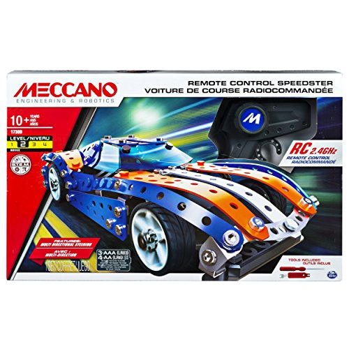 Meccano Erector, Remote Control Speedster Model Vehicle Building Set, with 2.4GHz, for Ages 10 and up, STEM Construction Education Toy