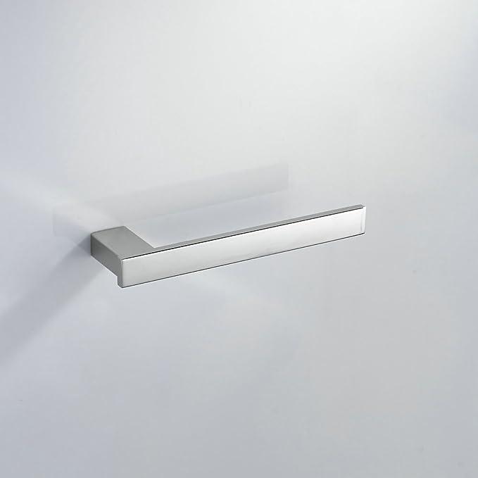 304 Acero inoxidable 4 piezas Juego de accesorios de baño toallero de barra + portarrollos de cocina + portarrollos de papel higiénico + Kit de ...