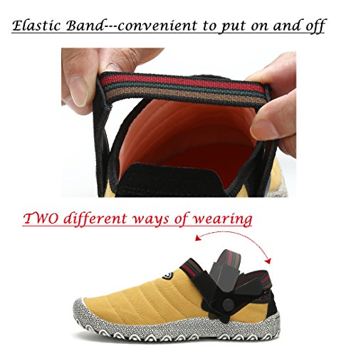 Maniamixx Slip Outdoor Gardening Grey Slip with on Slippers Canvas Clogs Shoes Band Shoes Non Unisex Elastic vAqYxrwvna