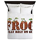 Queen Duvet Cover FROG Fully Rely On God