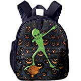 Ugift Funny Print Halloween Dabbing Alien Basketball 2-6 Child Book Bag Opening Gift Prize Schoolbag