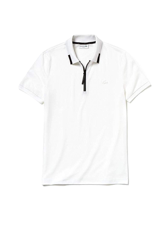 Lacoste Polo Zipper Blanco Hombre 3 Blanco: Amazon.es: Ropa y ...