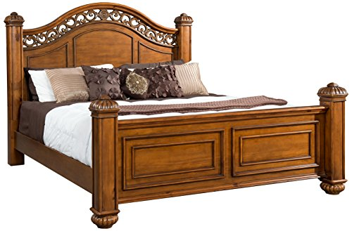 Abbey Avenue B-ASH-KB B Ashton Poster Bed, King, Oak