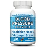 Longevity Blood Pressure Formula - Clinically proven - With Hawthorn & 15+ top quality all natural herbs - Scientifically formulated - Safe & effective - 90 Capsules