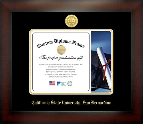 California State University, San Bernardino 8½ x 11 Mahogany Finish Infinity Diploma Frame by Celebration Frames by Celebration Frames