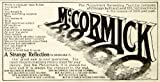 1899 Advert McCormick Harvesting Farming Equipment Daisy Reaper Mower Shredder - Original Print Ad