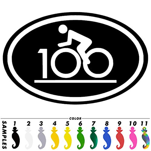 Pokewin 2pcs Century Ride Bike Race 100 Mile Sticker Car Truck Window Motorcycle Auto Decal (Best Bike For 100 Mile Ride)