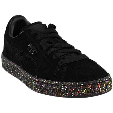 Puma Suede Classic Multi Splatter Kid Youth US 7 Black Sneakers