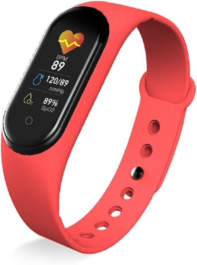 Pulsera Inteligente a Prueba de Agua con Pantalla IPS de 0,96 Pulgadas Adecuada para Deportes LUOLENG M5 Smart Band Fitness Tracker con frecuencia card/íaca y Monitor de sue/ño