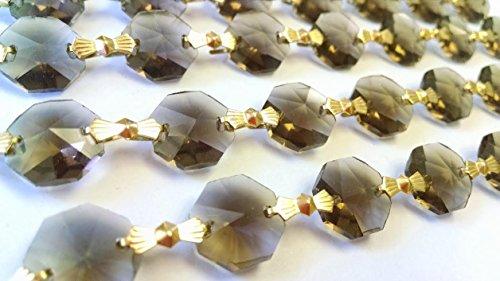 1 Yard Taupe Chandelier Crystal Prisms - Wholesale Suncatchers
