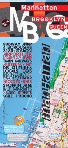 TerraMaps Manhattan Brooklyn Queens Street Maps – Subway – Laminated