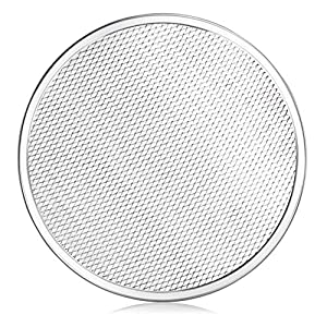 New Star Foodservice 50677 Seamless Aluminum Pizza Screen, Commercial Grade, 12-Inch
