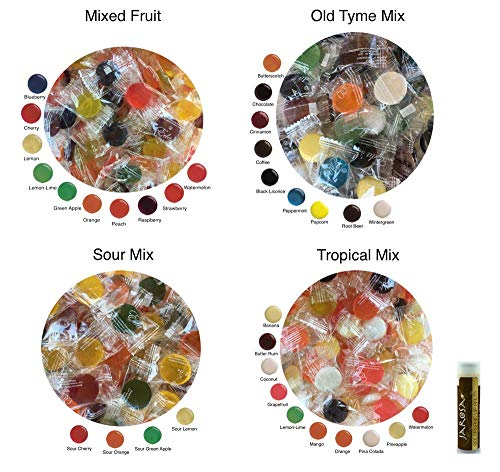 Old Tyme Candy (Eda's Sugar Free Hard Candy CLASSIC FLAVORS 2 Pounds Edas Individually Bagged with Mixed Fruit, Old Tyme Mix, Sour Mix & Tropical Mix (8 oz each) with a Jarosa Chocolate)