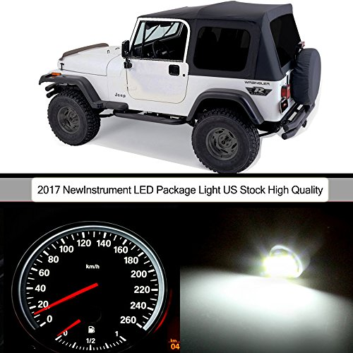cciyu 32pack White Instrument Gauge Cluster Light+ Climate Control LED Light Kit for 1987-1995 Jeep (1989 Light)