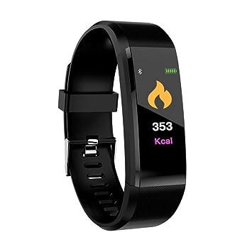 Aesy Reloj de Pulsera Inteligente A Prueba de Agua, 115 Presión Arterial Monitoreo del Ritmo Cardíaco Pulsera Inteligente Fitness Band (Negro): Amazon.es: ...