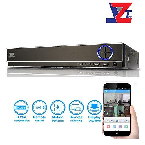 Hybrid Video Recorder (JZTEK 8CH Hybrid 1080N 5-in-1 AHD DVR (1080P NVR+1080N 720P AHD+960H Analog+720P TVI+720P CVI) CCTV 8-channel digital recorders HDMI Output QR Code Scan Motion detection&email Alerts(No)